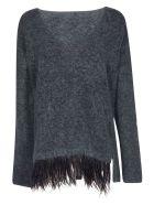 Alysi Fringed Detail Sweater - Laguna