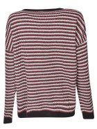 Happy Sheep Patterned Sweater - Red/Multicolor