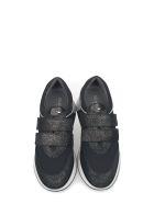 Alberto Guardiani Black Lady Sport Way Suede Glitter Fabric Insert Slip On Sneakers - Black