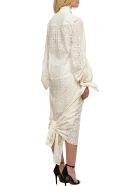 Rokh Lace Paneled Dress - Avorio