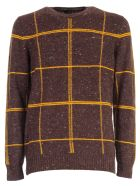 Drumohr Sweater W/buttons Check - Moro