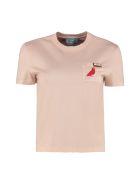 Prada Crew-neck Cotton T-shirt - Pink