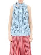 Calvin Klein Sleeveless Knit Top - LT BLUE (Light blue)