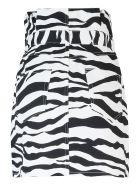 The Attico Zebra Print Trousers - White/Black
