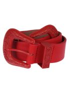 B-Low the Belt Double Buckle Belt - Total Red