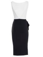 La Petit Robe Di Chiara Boni V-back Dress - Nero Bianco