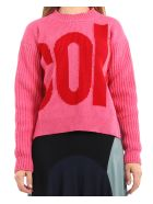 Colville Pink Sweater - Rosa/rosso