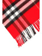 Burberry Giant Check Scarf - BRIGHT MILITARY RED (Red)