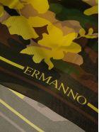 Ermanno Scervino Camo Print Scarf - Green/Brown