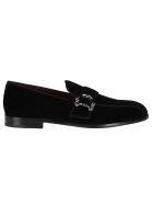 Dolce & Gabbana Buckled Velvet Loafers - Black