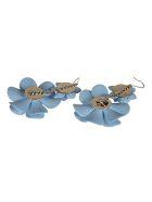Blugirl Floral Earrings - Azure