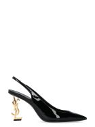 Saint Laurent Opyum Patent Leather Slingback Pumps - black