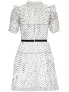 self-portrait Black And White Dress In Polka Dot Tulle - White