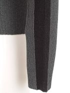 SSHEENA Sweater Turtle Neck Lurex W/side Bands - Grey