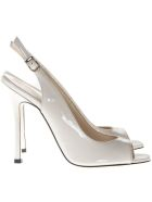 Marc Ellis Ivory Patent Leather Sandals - Avorio
