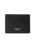 Dolce & Gabbana Logo Printed Card Holder - Black