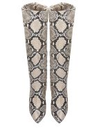 The Seller Boots In Animalier Leather - Animalier