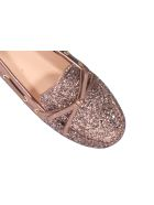 Car Shoe Glitter Loafers - Pink