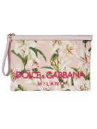 Dolce & Gabbana Embroidered Logo Clutch - pink