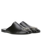 Balenciaga Cosy Bb Slippers - BLACK + SILVER