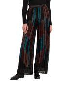 M Missoni Mulitcoloured Stripes Palazzo Trousers In Lurex Knit - Multicolor