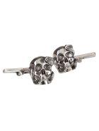 Alexander McQueen Silver-tone Metal Skull And Snake Cufflinks - Silver