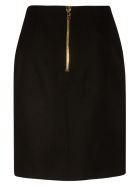 Balmain Back Zip Skirt - Black