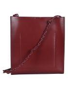 Jil Sander Woven Strap Classic Shoulder Bag - Bordo