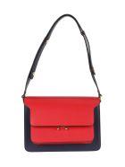 Marni Trank Bicolor Shoulder Bag - BLUE RED