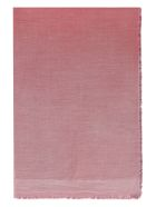 Faliero Sarti Amante Multicolor Scarf With Fringes - red