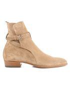 Saint Laurent Wyatt 30 Jodhpur Ankle Boots - New Cigar