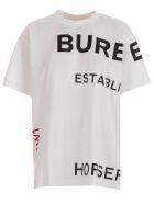 Burberry Carrick J16 Hfh M 113839 T-shirt S/s W/written - White