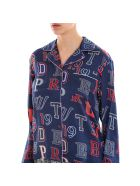 Tommy Hilfiger Silk Crest Pyjama Shirt - Blue
