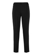 Boutique Moschino High-waist Crêpe Trousers - black