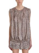 L'Autre Chose Leopard Print Silk Top - Animalier
