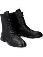 Stuart Weitzman Mckenzee Leather Combat Boots - black