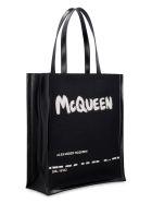 Alexander McQueen Logo Detail Tote Bag - black