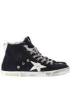 Golden Goose Superstar Night Blue Suede Sneakers - Dark blue