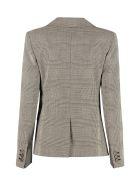 Max Mara Studio Massimo Prince Of Wales Checked Blazer - grey