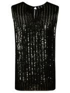 Max Mara Pianoforte Sequin Ribbed Top - Black