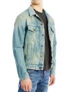 Off-White Airport Tape Denim Jacket - Blue