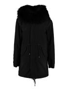 Mr & Mrs Italy Jazzy Parka With Fur Trimming - black
