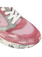 Premiata Sneakers Zac-zacd Premiata Sneakers In Laminated Suede And Micro-net With Rubber Sole - pink
