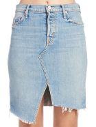 Mother 'the Tomcat Slide Mini Fray' Skirt - Blue