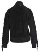 Golden Goose Akiko Leather Bomber Jacket - BLACK