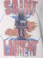 Saint Laurent Saint Laurent Robot Sweatshirt With Print - AVORIO