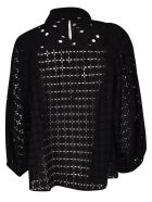 Rochas Broderie Anglaise Blouse - . Black