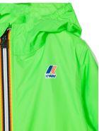 K-Way Green Contrast Zip Up Jacket - Verde