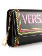 Versace Evening St Logo Shoulder Bag - Dnmot Nero Multicolor