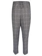 Zucca Cropped Check Trousers - Brown/Navy